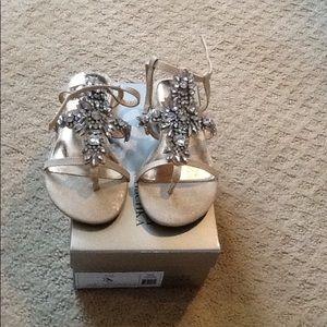 Other - New in box Girls Badgley Mischka pale gold sandals